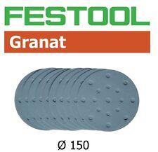 "Festool Granat Abrasive 150mm (6"") P120 Grit - Pack of 10 (497154)"