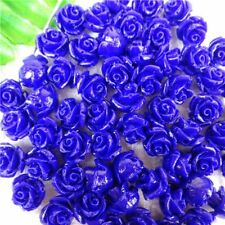 10Pcs Wholesale Royal Blue Tridacna Carved Flower Pendant Bead 10*8mm HH5400