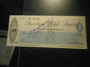 1926 Barclays Bank Limited, Cheque, East Grinstead Branch