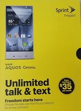 Brand New/Sealed Box Sprint Prepaid Sharp Aquos Crystal Smartphone