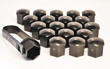 20 x 17MM HEX ALLOY WHEEL NUT BOLT CAPS BLACK + Removal Tool Seat 600 D