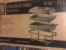 Catering Classic Stainless Steel Chafer Chafing Dish Set 8 Qt Buffet Full