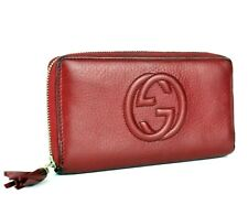 Authentic GUCCI GG SOHO Interlocking Zip Around Long Wallet Purse Italy Vintage