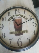 Sterling & Noble pint works irish wall clock