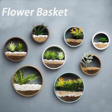 Round Flower Iron Hanging Basket Bonsai Round Wall Plant Pot Wall Decoration YL
