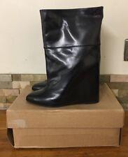 A.F.VANDEVORST Wedge Leathe Ankle Boots - Black -  UK 6.5/EU 39.5 - £750