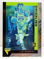 Ja Morant RC 2019-20 Chronicles FLUX Green Rookie Card #595 Memphis Grizzlies SP