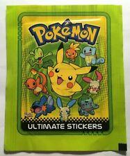 "Booster Pack Sticker Pokemon Serie ""Ultimate Sticker"" Neuf Mint Merlin TOPPS2005"