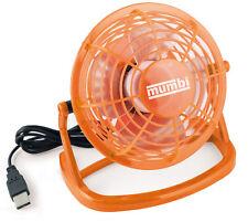 mumbi USB Tisch Ventilator Mini Fan Venti für Computer Notebook Laptop orange