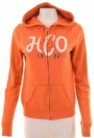 HOLLISTER Womens Hoodie Sweater Size 16 Large Orange Cotton  IB14