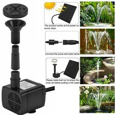 200L/H Solar Feature Fountain Submersible Water Pump Outdoor Garden Pool Pond rc