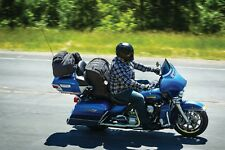 Victory Touring Motorcycle Seat Bag Driver Backrest Black