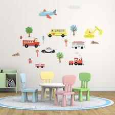 Wall Stickers Mural Nursery Happy Car Home Decoration 125cm x 85cm UK Transport
