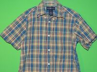 Polo Ralph Lauren Boys Youth Size 6 Colorful Plaid Short Slv Button Shirt