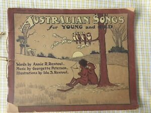 Australian Songs for Young and Old - Illust Ida Rentoul   Early 1900's RARE