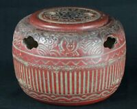 Antique Japan rabbit Teaburi ceramic censer 1880s Meiji art.