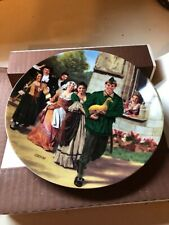 """Charles Gehm Collector Plate """"The Golden Goose"""" Grimm's Fairy Tales 1984 Coa"""