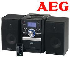 AEG 4432 Stereo Musik anlage CD MP3 Player USB Slot Radio Kassettenfach Schw L2