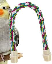 1674 20inch Parrot Rope Perch bird toy toys cage budgie conure cockatiel amazons