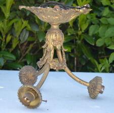 "stunning French antique gilt bronze light fitting 10"" deco loft barn cabin roses"