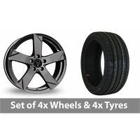 "4 x 17"" Wolfrace Kodiak Graphite Alloy Wheel Rims and Tyres -  205/40/17"