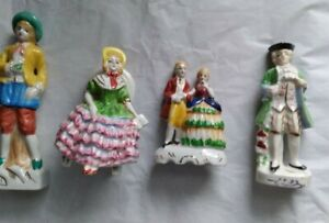 4 Made in Japan Figurines, Red Mark