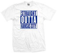 Straight Outta Kansas City T-Shirt - KC Royals Chiefs Kauffman - All Size Colors