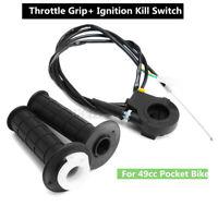 7/8'' 22mm Twist Throttle Handle Grip + Ignition Kill Assembly 49cc Pocket Bike