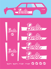 Hot wheels 1/64 Water Slide Decals Datsun 510 Wagon Barbie 025