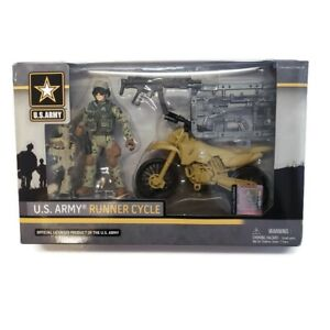 U.S. Army Runner Cycle Military Toy Set EXCITE Action Figure Bike Age 4+