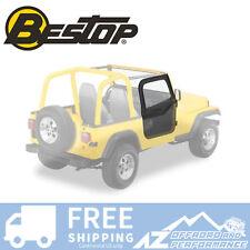 Bestop Soft Fabric Upper Doors 88-95 Jeep Wrangler YJ Black Denim 51780-15
