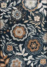 """2x8 Milliken Garden Passage Blue Modern Floral Area Rug - Approx 2'1""""x7'8"""""""