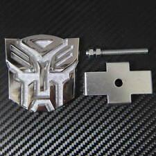 Car Transformers Autobot Metal Front Grill Grille Fender Hood Emblem Badge
