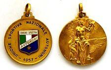 Medaglia Con Smalto Unione Sportiva Nazionale Autonomi 1957 (F.D.M.) Metallo Dor