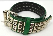 Custom Hand made Faux Leather Dog Collar stud studded distressed S M 12 - 15 ""