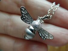 Fabulous Sterling Silver Bumble Bee Necklace
