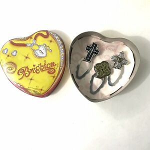 Set 3 Brighton Cross Pagemarkers Book Marks in Heart Tin Cross Two Tone New
