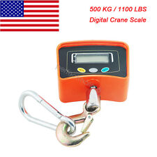 US SHIP  500KG/1100LBS Digital Crane Scale Heavy Duty Hanging Scale Industrial