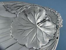 """Sterling Meriden 9"""" Dish w/ Floral Water Lily pad design WD126 ~7.49 troy ozs"""