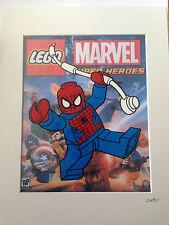 Lego - Marvel Comics - Spider-Man - Hand Drawn & Hand Painted Cel