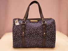 Tommy Hilfiger Women's Blue Large Satchel Handbag Beautiful Logo Purse