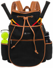 Lish Women's Match Point Canvas Solid Tennis Racquet Holder Backpack
