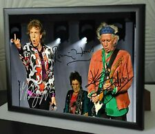 Mick Jagger Keith Richards Ronnie Wood Rolling Stones SIGNED FRAMED TRIBUTE
