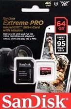 SanDisk 64GB Extreme Pro Micro SD 4K ULTRA HD with adapter Fast memory card Auth