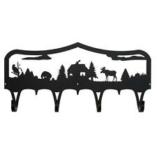 Moose & Cabin Coat Rack - Bear Eagle Cabin Hook Hanger
