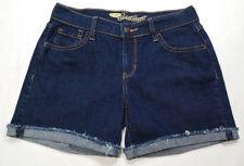 Old Navy Women Size 0 Jean Shorts Blue Dark Wash Low Rise Frayed Hem Sweetheart