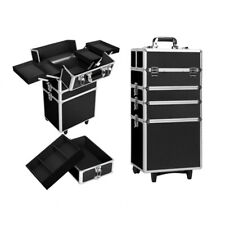 7-in-1 Portable Beauty Make up Cosmetic Trolley Case Black