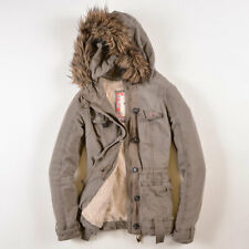 Hollister California Damen Jacke Jacket Gr.S (DE 36) Fleece-Futter Beige, 27789