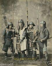 Japanese Samurai Reprint Circa 1870-1890 Hand-Colored Photo - Japan Warriors