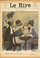 "le rire - colour print from 1911 titled "" indice certain  """